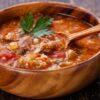 Классический суп харчо из свинины с рисом